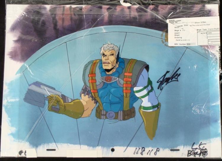 Orig X-Men Signed Stan Lee Cel Production Background