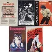 5 Rock Concert Posters Dylan Beatles Stones Bruce