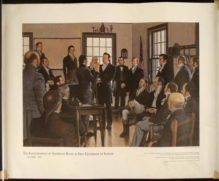 4 Historic Illinois Bell George I. Parrish Jr. Prints