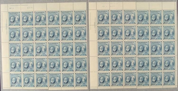 60 Canada Alexander Graham Bell 4 Cent Stamps Sheets