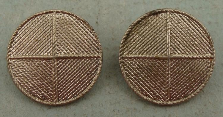 2 WII Military Service Pins Maker Marked