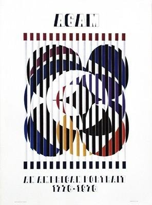 Agam Birth of a Flag  Art Gallery Expo Poster  1975