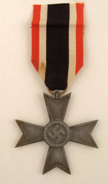 NAZI WAR MERIT CROSS NO SWORDS (CIVILIAN) WITH RIBBON