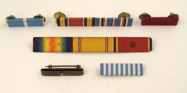 SIX WWII RIBBON BARS