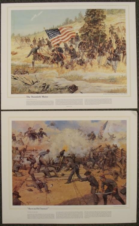 10 National Guard Heritage US Military Art Prints Lot - 2
