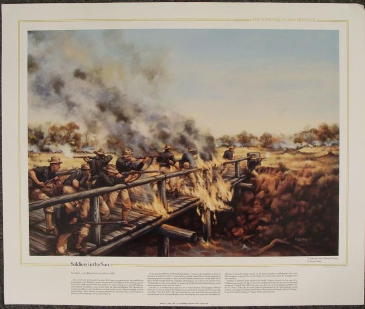 10 National Guard Heritage US Military Art Prints Lot - 3