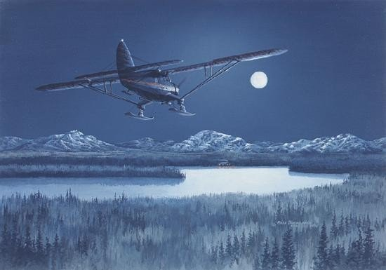 Ross Buckland Christmas Eve Noorduyn Norseman Art Print