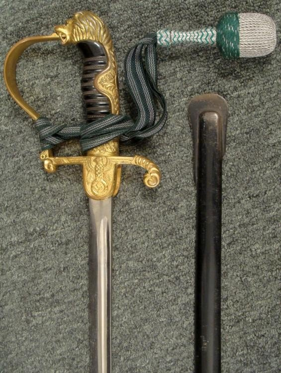 RARE ORIGINAL EMIL VOOS WEHRMACHT SWORD