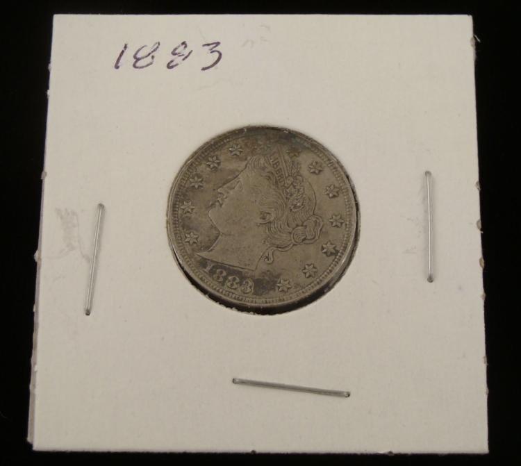 """1883 Hi-Grade Liberty """"V"""" Nickel"""