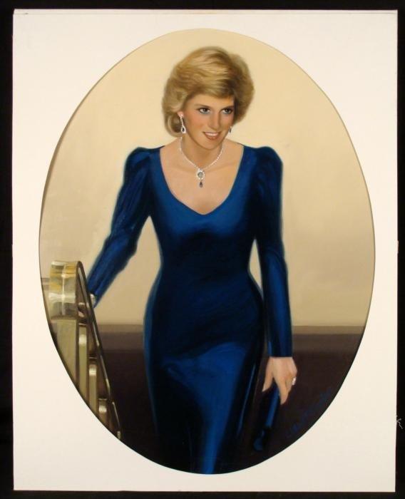 William Chambers Original Art Painting Lady Diana