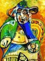 The Seated Man Numbered Giclee by Picasso 20x26 Canvas