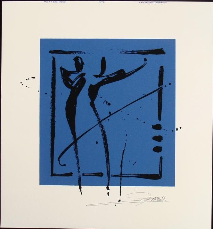 Alfred Gockel Serigraphs Avoidance Art Signed Print