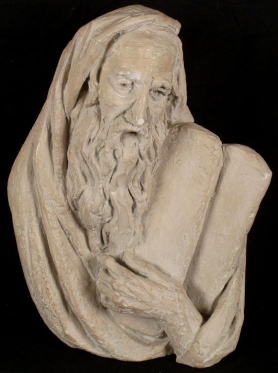 Arnold Henry Bergier Moses Ceramic Sculpture 1967