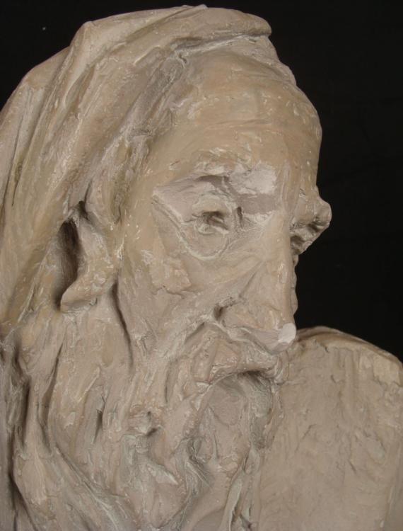 Arnold Henry Bergier Moses Ceramic Sculpture 1967 - 3