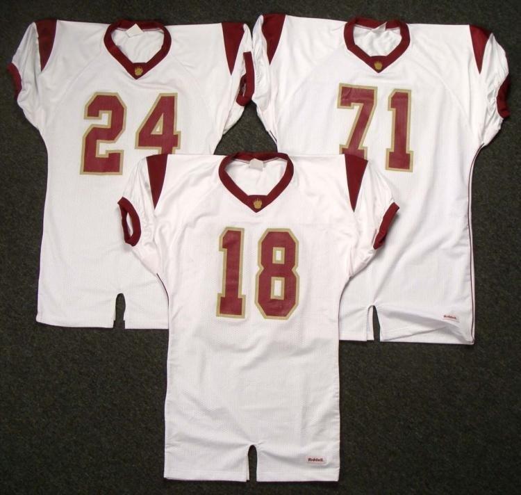Three Brand New Riddell Football Jerseys