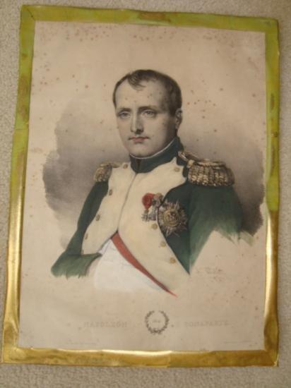 Antique French lithograh Napoleon Bonaparte 1810