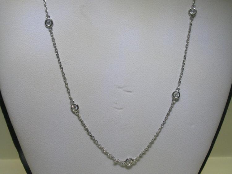 .53 ct Diamond Chain 14K White Gold