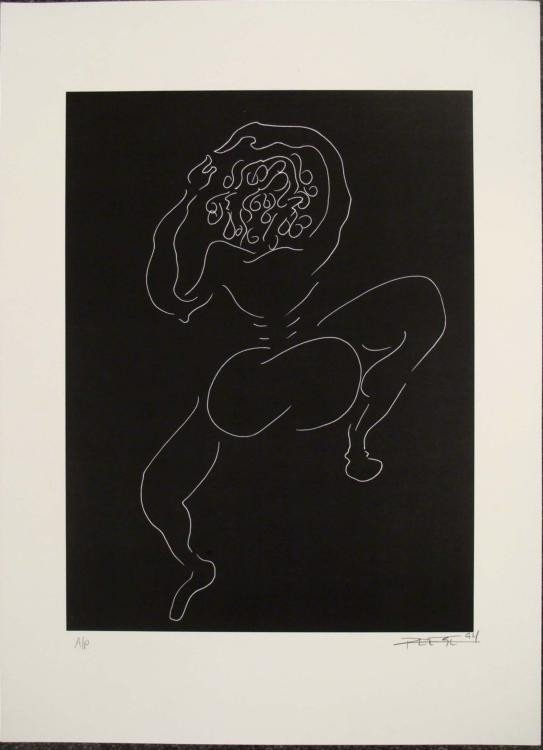 Dancing Nude Jeffrey Glenn Reese Signed Lithograph 1994