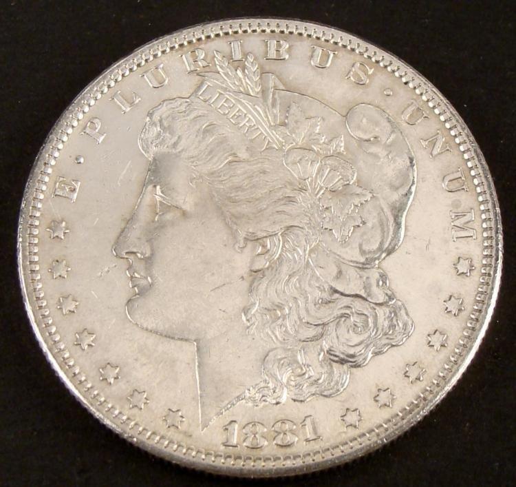 1881-S Very High Grade Morgan Silver Dollar