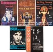 5 Rock Concert Posters Bruce Doors Metallica Stones