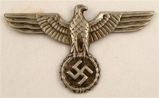WWII Nazi German Eagle & Swastika Pin Original
