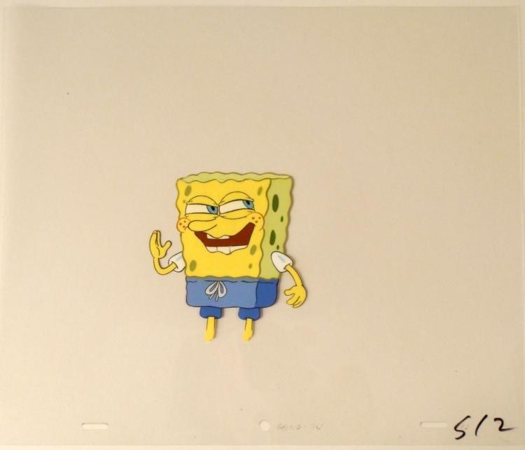 Crazy Face SpongeBob Original Animation Art Cel Cool