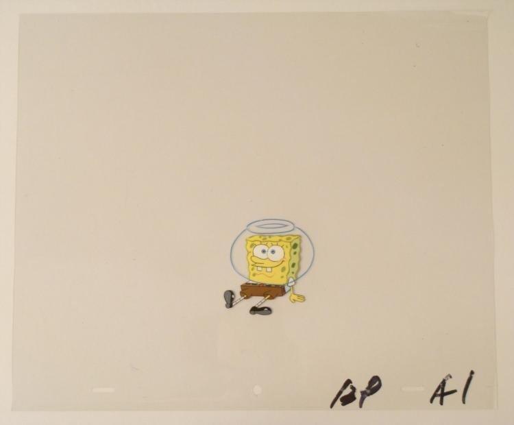 Sitting On Ground Original Animation Art Cel SpongeBob