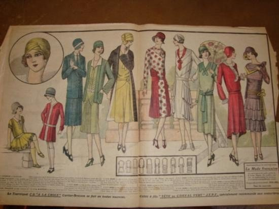 Authentic French Fashion print dated 1929