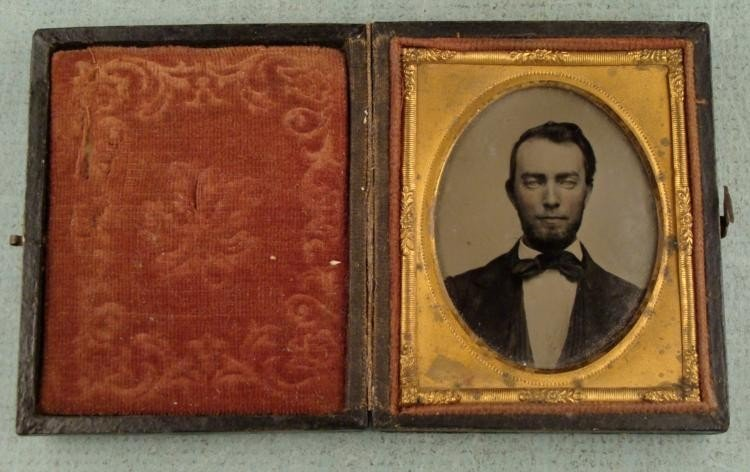 Antique Daguerreotype Photo in Star of David Frame