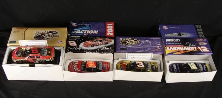 4 NASCAR 1:24 Cars Dale Jr. Gold & Kerry Earnhardt
