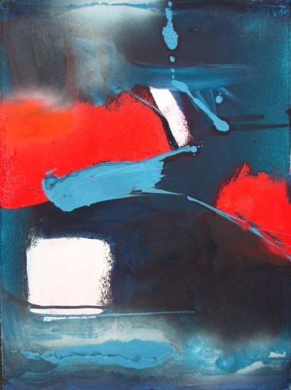 SELVEDGE Abstract Acrylic Painting Paper Art ROBERTS