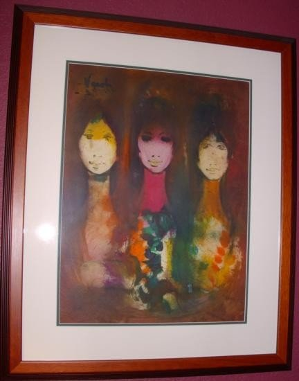 Sisters by Vardi Signed Acrylic Painting