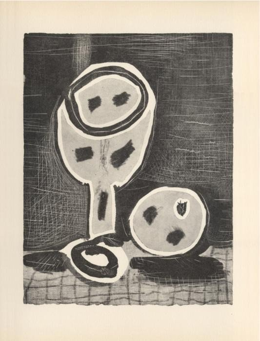 Picasso Print Nature Morte Au Verre Et a La Pomme 1957