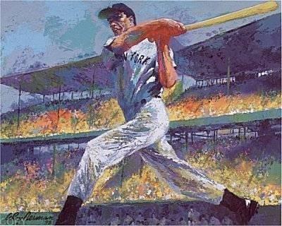 LeRoy NEIMAN Signed Joe DiMaggio Art Print