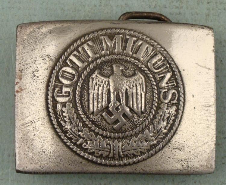 WW1 GERMAN ARMY BELT BUCKLE GOTT MIT UNS REPRODUCTION