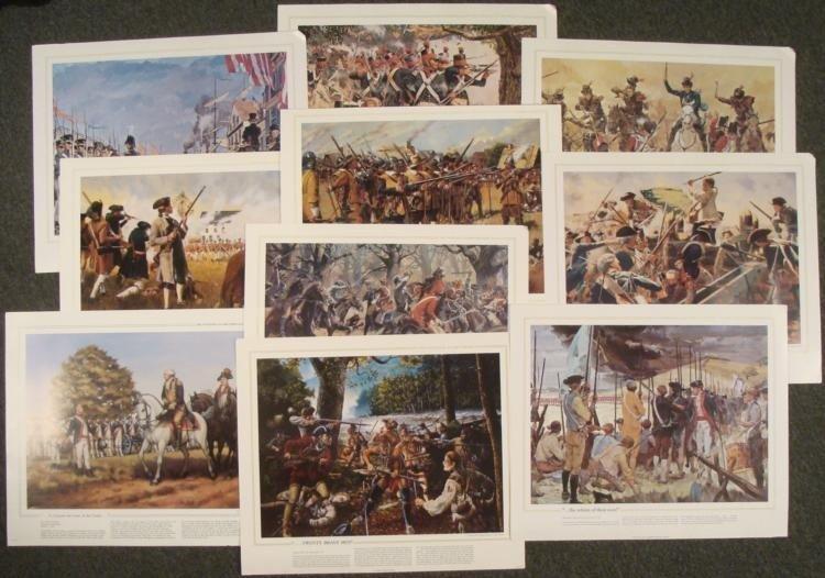 Set 10 National Guard Heritage US Military Art Prints