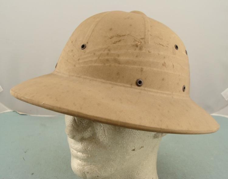 ORIGINAL 1942 WWII US PACIFIC THEATRE NAVY PITH HELMET