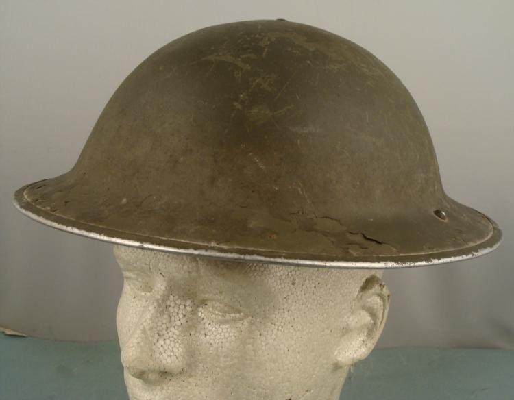 BRITISH WWII STEEL POT TYPE II COMBAT HELMET