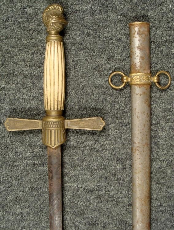 1860 MILITIA INFANTRY OFFICER'S SWORD AND SCABBARD
