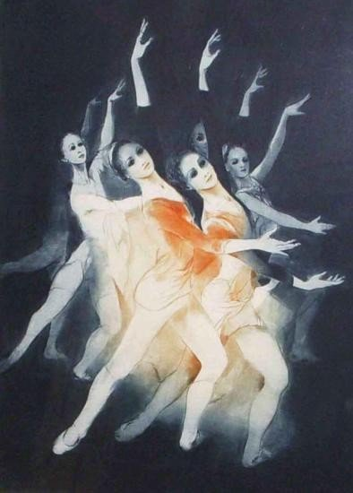 Les Eleves By G.H. Rothe Mezzotint Signed and Numbered