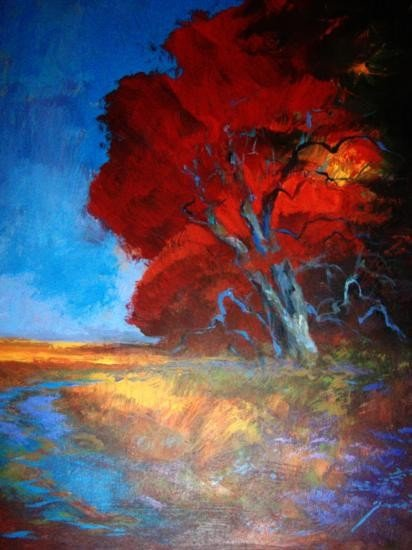 Autumn Forest By Schofield Oil 28x18