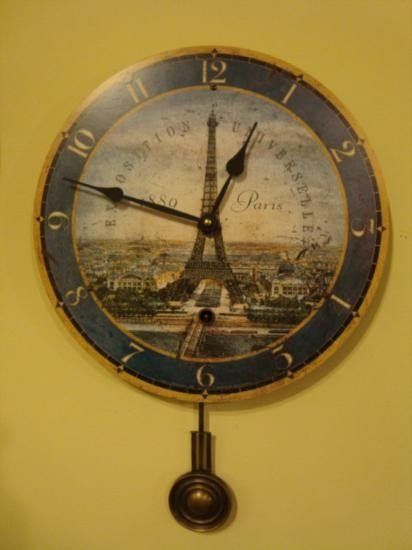 French clock Paris Exposition universelle