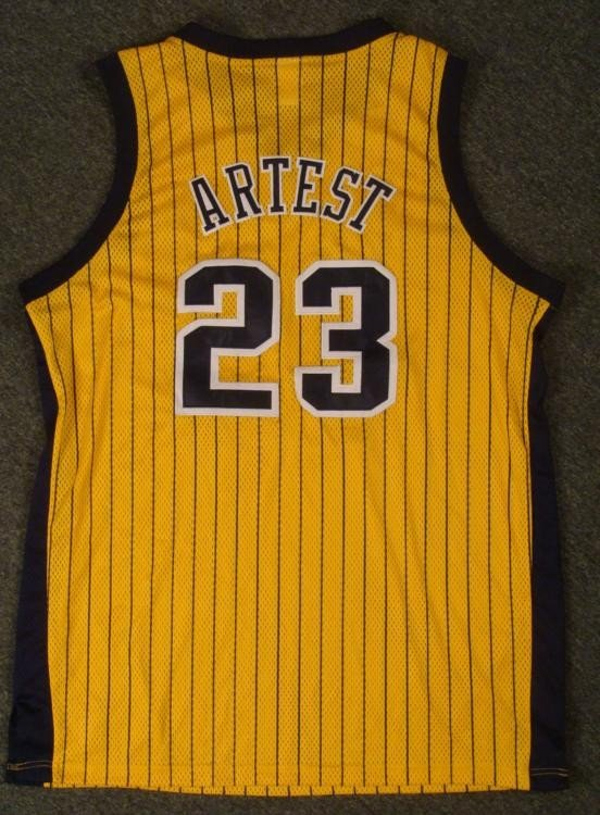 Authentic Indiana Pacers Ron Artest Jeresey Basketball
