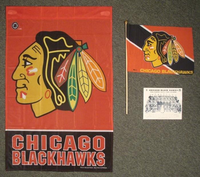 Chicago Blackhawks Stanley Cup Photo, Flag, Banner Lot