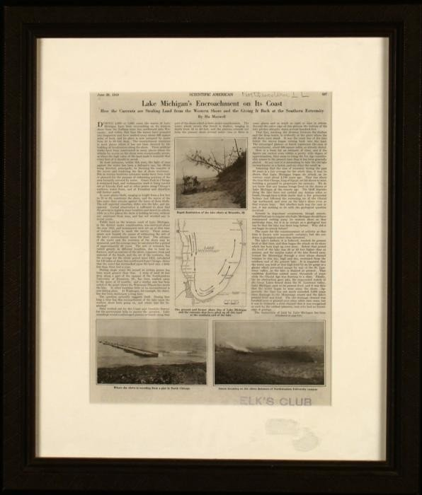 American Antique Magazine Lake Michigan 1919 Framed