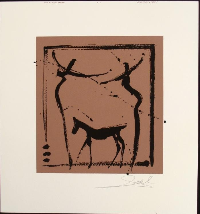 Alfred Gockel Abstract The Dog Signed Art Print