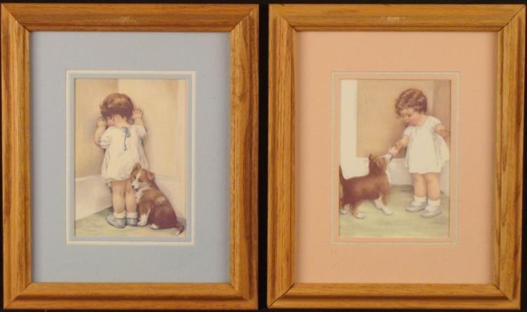 2 Bessie Peuse Guttman Framed Prints Childrens Room Art