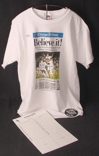 WHITE SOX Fan Wear BELIEVE IT T-Shirt SZ XL All-Star