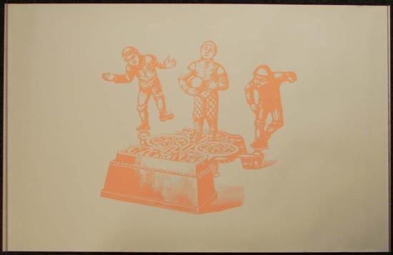 Silk Screen Print Cast Iron Metal Toy Art Calamity