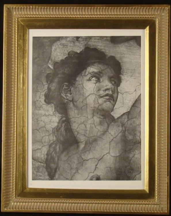 Michelangelo Louvre Poster Print Framed